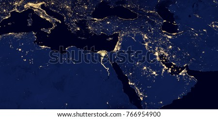 Middle East West Asia East Europe Stock Photo (Edit Now) 766954900 ...