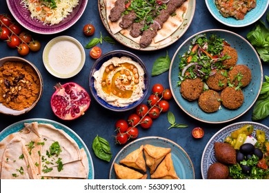 Arabian food images stock photos vectors shutterstock middle eastern or arabic dishes and assorted meze concrete rustic background meat kebab forumfinder Image collections