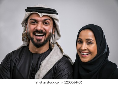 Middle eastern couple portraits