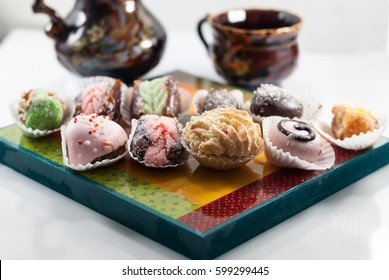 Middle Eastern Desserts.Arabic Sweets.Henna Cookies.