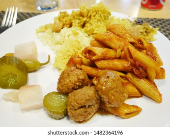 Middle eastern dishes on a plate