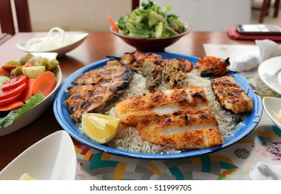 Middle Eastern grilled fish photographed in sharjah