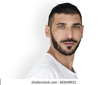Middle Eastern Man Casual Studio Portrait