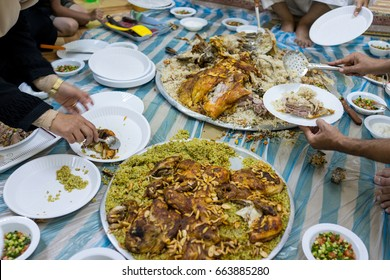 Middle Eastern traditional rice and meat food