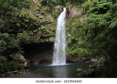 Middle Falls in Fiji Island