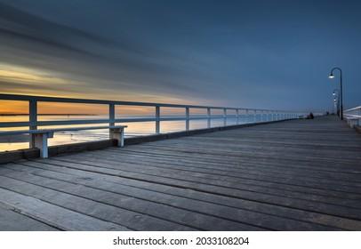 middle park beach pier Melbourne city bay sunrise bay area coastal
