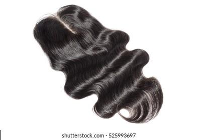 Middle part black human hair lace closure