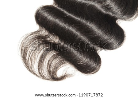 Middle Part Body Wave Wavy Black Stock Photo Edit Now 1190717872