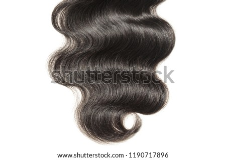 Middle Part Body Wave Wavy Black Stock Photo Edit Now 1190717896