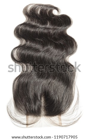 Middle Part Body Wave Wavy Black Stock Photo Edit Now 1190717905