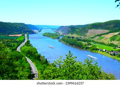 middle rhine valley in spring