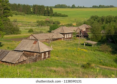 Middle Ural, Russia - rural landscape in sunny day