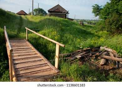 Middle Ural, Russia, - RURAL LANDSCAPE in sunny day