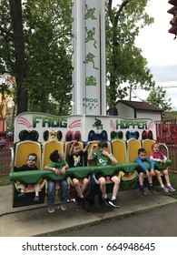 MIDDLEBURY, CT - MAY 27: Quassy Amusement Park in Middlebury, Connecticut, as seen on May 27, 2017. It has been a staple in Connecticut entertainment for over 100 years.