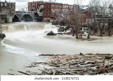 Middlebury falls in Vermont