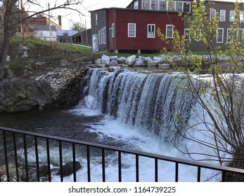 Middlebury VT old mill waterfall