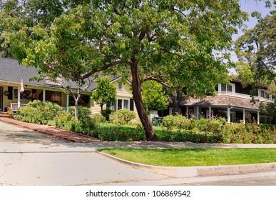 Middle-class neighborhood in Southern California