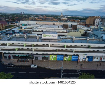 Middlesbrough, England August 14th 2019 Photo of the Holiday Inn Express at Middlesbrough taken by drone