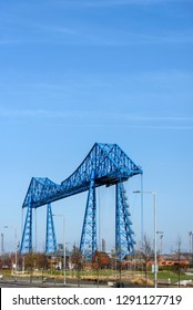 The Middlesbrough Transporter Bridge; the gondola can carry 200 people, 9 cars or 6 cars and one minibus.
