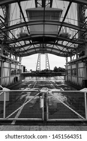 Middlesbrough Transporter Bridge Gondola Monochrome