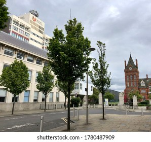 Middlesbrough/UK. July 20, 2020. Teesside university. North east of England. Main campus in Middlesbrough town centre.