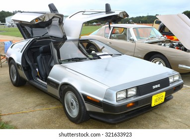 Middlesex, VIRGINIA - SEPTEMBER 26, 2015: An exotic Delorean Motor Company car at the Wings Wheels & Keels 19th annual event held each September in Middlesex VA