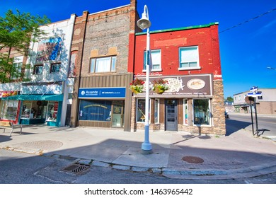 Midland, Canada-15 July, 2019: Downtown in in Midland town located on Georgian Bay in Simcoe County, Ontario, Canada
