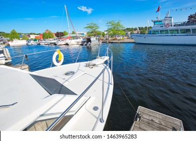 Midland, Canada-15 July, 2019: Midland town located on Georgian Bay in Simcoe County, Ontario, Canada