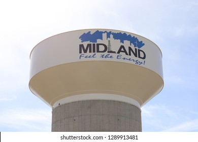 Midland, Texas - January 20, 2019: City of Midland Water Tower