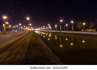 Midnight Light at Bhudda Monthol Road