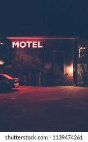 Midnight motel sign