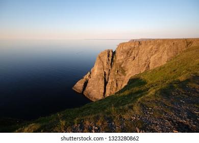 Midnight sun in Nordkapp's hill