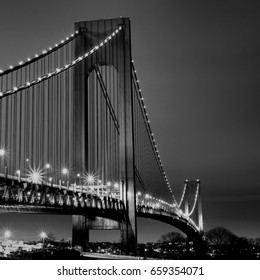 Midnight at Verrazano-Narrows Bridge