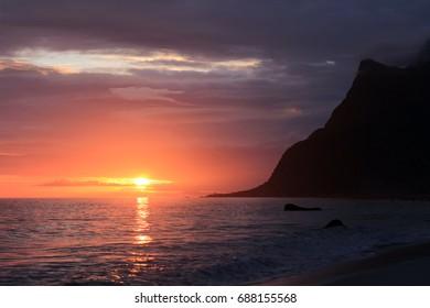 Midnight's sun in Lofoten