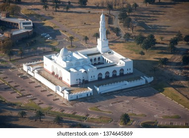 MIDRAND, SOUTH AFRICA-JULY 21 2018: Aerial view of the Musjid Al Jaame in Waterfall City at the Islamic Institute