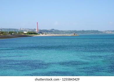 Mid-Sea Road in Uruma City, Okinawa