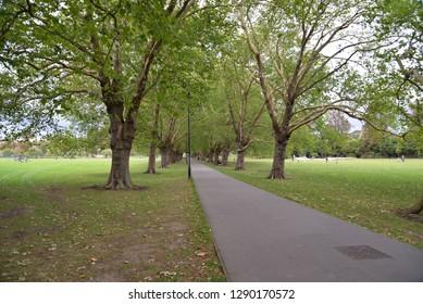 Midsummer Common in Cambridge, England