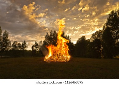 Midsummer night's fire, Midsummer tradition in Latvia