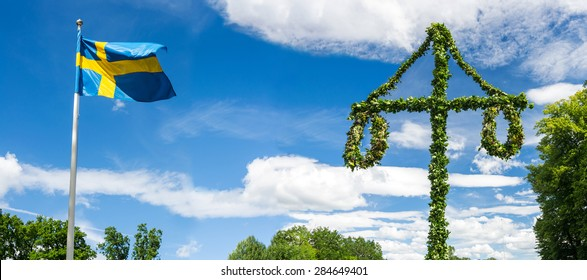 Midsummer traditional Swedish symbols
