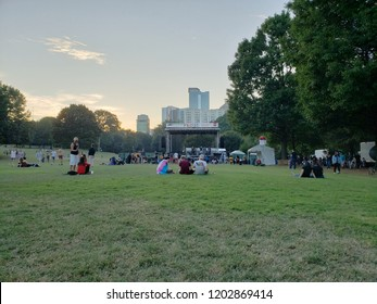 Midtown, Atlanta, Georgia / The United State - October 14, 2018 : Free fun Concert in Happy pride day at Piedmont park,