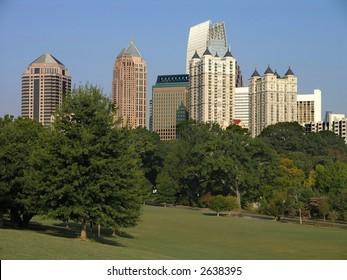Midtown Atlanta as seen from Piedmont Park