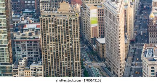 Midtown Manhattan aerial skyline. NYC