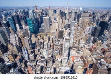 Midtown Manhattan aerial view. New York, USA. May 1, 2018.