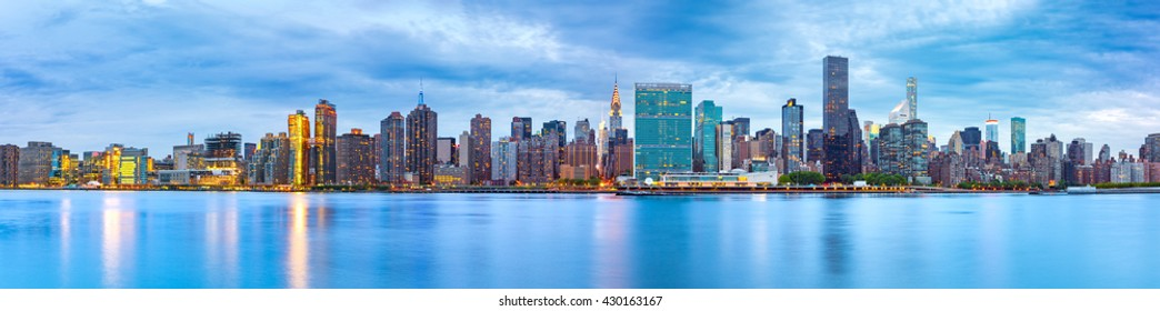 Midtown Manhattan panorama as viewed from Gantry Plaza State Park across East River