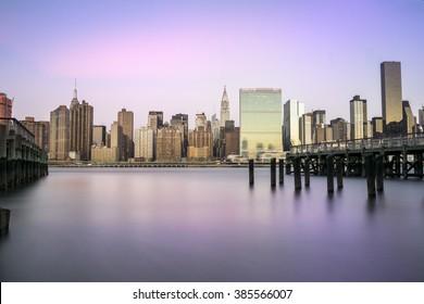 Midtown Manhattan from Queens New York.