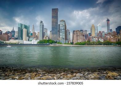 Midtown Manhattan skyline panorama