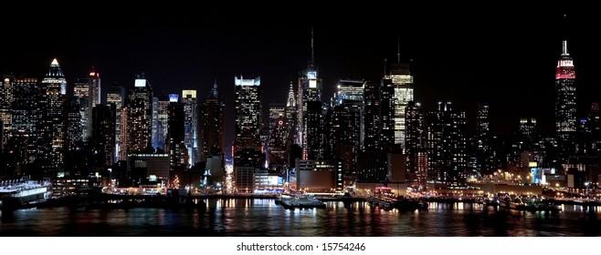 Midtown Manhattan taken at night