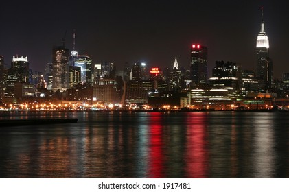 Midtown Manhattan with view of Empire State Building and Chrysler Building