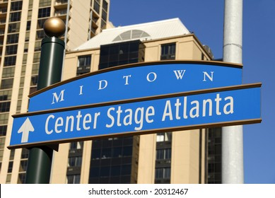 Midtown Sign for Center Stage Atlanta