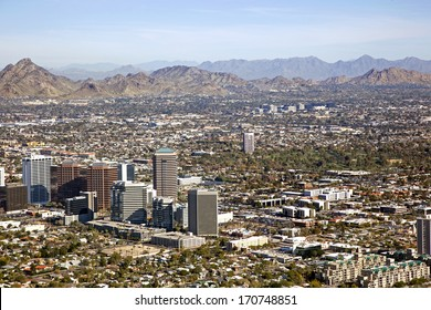 Midtown Skyline of Phoenix, Arizona looking to the northeast